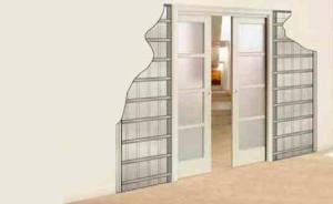 Vente porte coulissante escamotable tunisie for Porte coulissante dans le mur