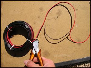 Installation de câble électrique