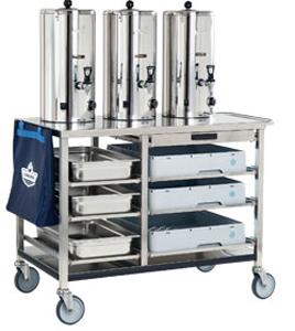 Chariots-armoire équipes de réservoirs thermiques sans résistance