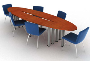 Table de r�union ovale