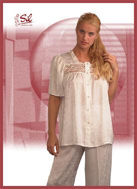 Pyjama Satin Façoné