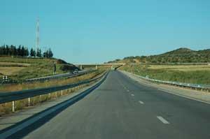 Travaux routiers: Autoroute  Tunis Medjez el bab Oued Zarga
