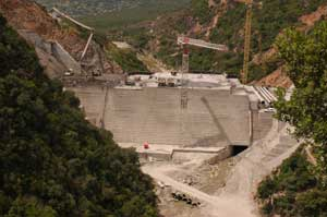 Travaux hydrauliques : Barrage sur Oued Moula A Tabarka