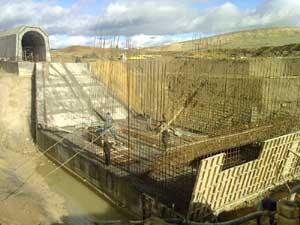 Travaux hydrauliques : Barrage TINE A Mateur