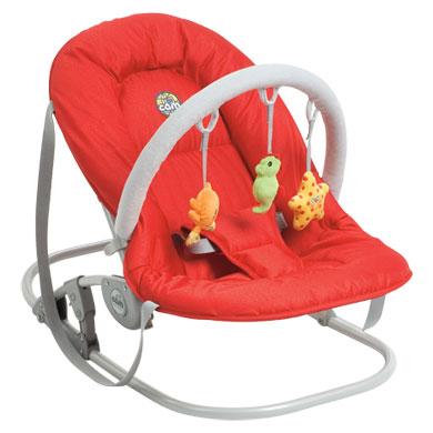 Chaise basculante avec jouets