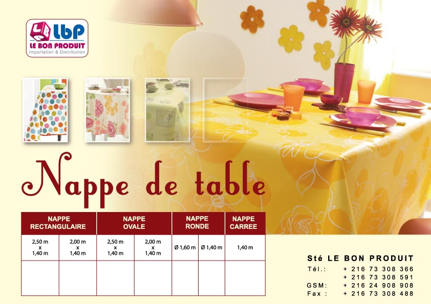 Nappe de table + housse machine