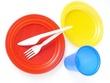 Vaisselles jetables en plastique
