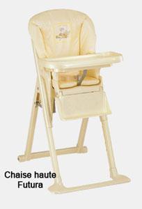 Chaise haute futura