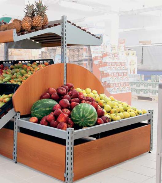 Rayonnage alimentaire Fruits et légumes