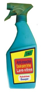 Lave-vitres /anti-insecte/esuie-pare-brise