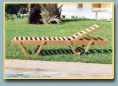 Chaise longue, lit de piscine natte 1