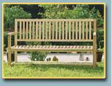 Fauteuils en bois, banc de jardin