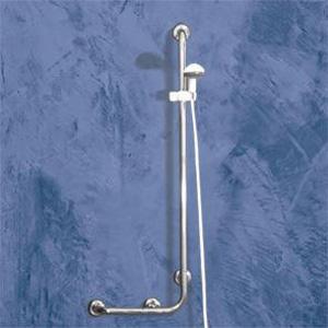 Poignée de support pour douche en Inox avec dispositif de montée descente douchette de marque Goman