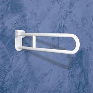 Barre d'appui rabattable en acier traité avec longue plaque et friction, de marque Goman