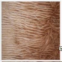 Tissu poils longs