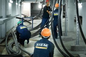 Montage électrique industriel basse et haute tension BT/HT