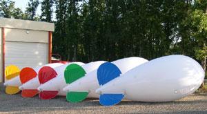 BALLON DIRIGEABLE PUBLICITAIRE H�LIUM PVC