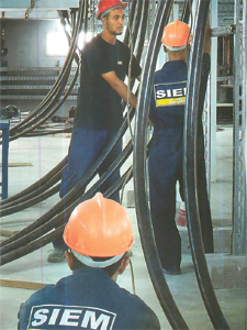 Tirage de câbles HT et BT