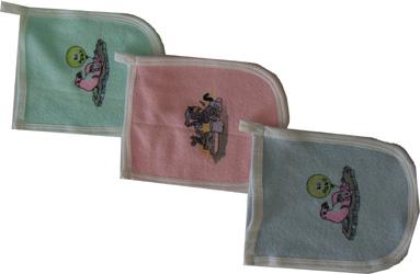 Gants de toilette pour bébés