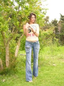 Pantalons en jeans Neige