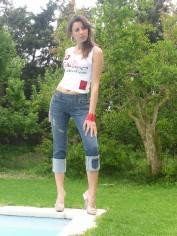 Pantacourt en jeans TORA