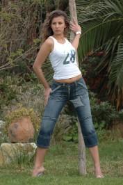 Pantacourt en jeans TEMPETE