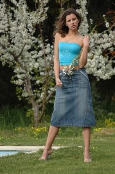 Jupes en jeans SAGA