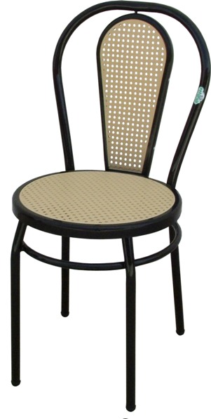 Chaise bistrot dos PVC