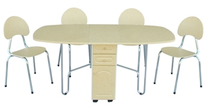 Chaises+ table pliante 2 tiroirs PM