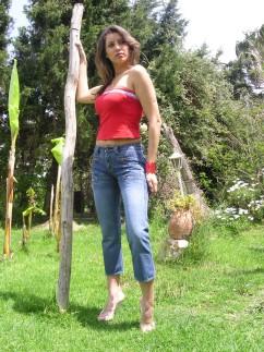 Pantacourt en jeans Fauna