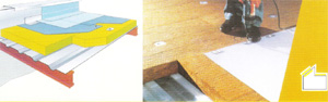 Toiture étanche: Panel cubierta isover 150/175