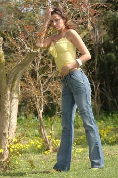 Pantalons en jeans Saga