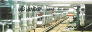Isolation industrielle tuyauteries avec temp du fluide intérieur >250°