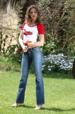 Pantalons en jeans Famous