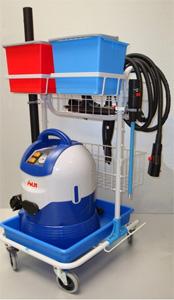 Chariot professionnel de nettoyage sp�cifique Mondial Vap 2700 POLTI
