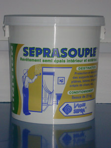 Rev�tement semi �pais de d�coration SEPRASOUPLE