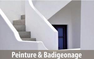 Applications pour le bâtiment: badigeonnage et peinture