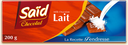 Tablette de chocolat au lait SAID