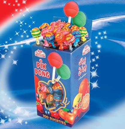 Bonbons Pik Pong