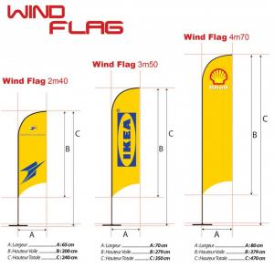 Drapeaux ORIFLAMMES BEACH FLAG