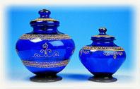 Articles d�coratifs en verre ordinaire ou souffl�