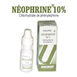 Médicaments ophtalmiques: Collyre  NEOPHRINE 10 %