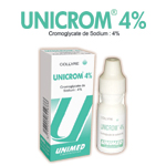 Médicaments ophtalmiques: Collyre UNICROM 4 %