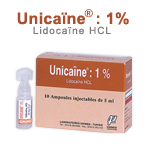 Médicaments: Injectables liquides UNICAINE 1 %