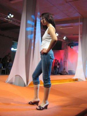 Pantacourt en jean pour femmes
