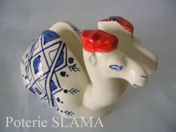 Articles de d�coration en c�ramique: Porte serviette Chameau