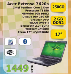 Pc portable Extensa 7620