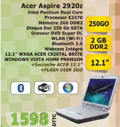 Pc portable ACER ASPIRE 2920Z