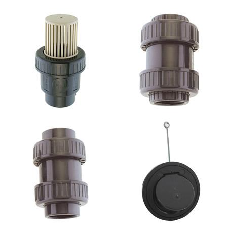 Clapet, crépine  et ventouses en pvc pression