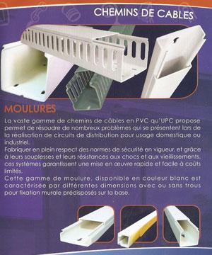 Moulures et Chemins de câbles en PVC